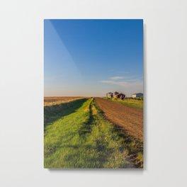 Walkin' on a Country Road 3 Metal Print