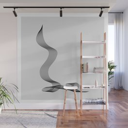 ''Dove Collection'' - Minimal Letter L Print Wall Mural