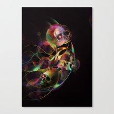 Vivid Skulls of Life Canvas Print