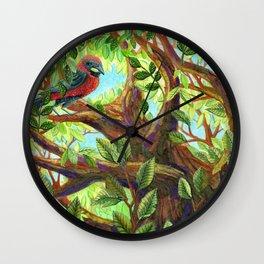 Bird up a Tree Wall Clock