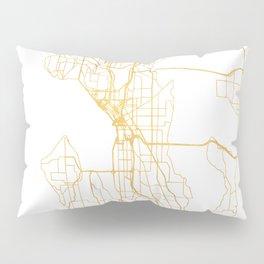 SEATTLE WASHINGTON CITY STREET MAP ART Pillow Sham