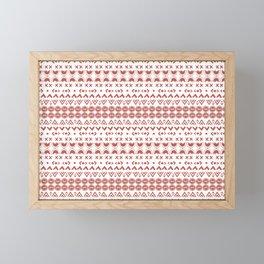 Scandi Hygge Red Framed Mini Art Print