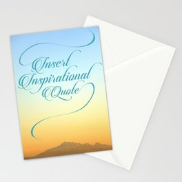 Insert Inspirational Quote Stationery Cards