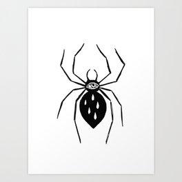 Spider eye Art Print