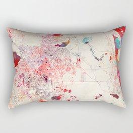 Orlando map Florida painting Rectangular Pillow
