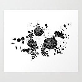 Broken Floral Sketch Art Print