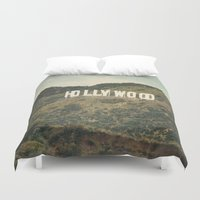 hollywood Duvet Covers featuring Hollywood (color) by CMcDonald