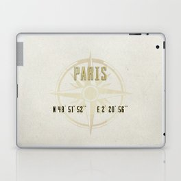 Paris - Vintage Map and Location Laptop & iPad Skin