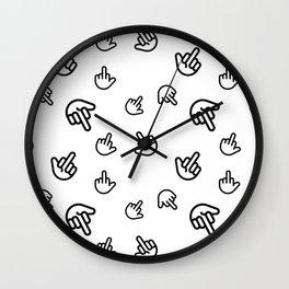 Minimal Finger Wall Clock