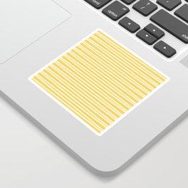 Yellow and white thin horizontal stripes Sticker