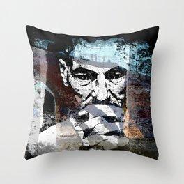 contemplation - original Throw Pillow