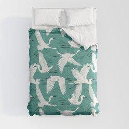 Soaring Wings - Teal Green Comforters