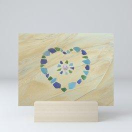 Seaglass heart Mini Art Print