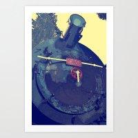 train Art Prints featuring train  by gzm_guvenc