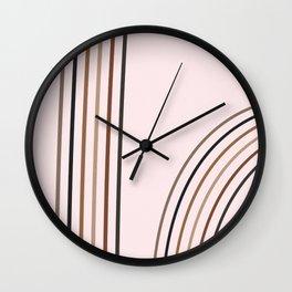 Rainbow Minimal, Mid Century, Line Art 1 Wall Clock