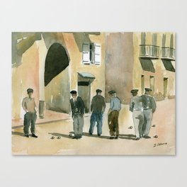 The Game of Pétanque Canvas Print
