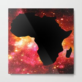 African Galaxy Red Orange Metal Print