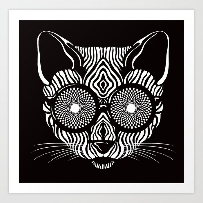 Hypnotic Kitty is hypnotize you  Art Print