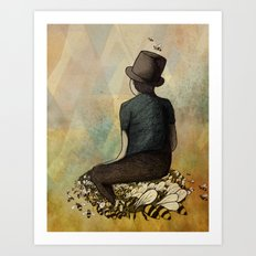 The Boy and his Bees Art Print