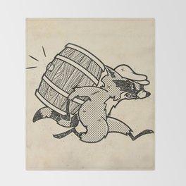 THE  WHISKEY SMUGGLER - vintage cartoon 80's Throw Blanket