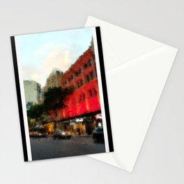 Beautiful Brisbane City Digital Painting Stationery Cards