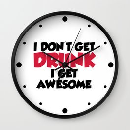 Get Awesome Funny Quote Wall Clock