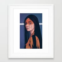 pain Framed Art Prints featuring Pain by Conrado Salinas