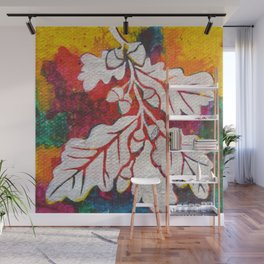 Leaves on the World Tree: Basques Oak Wall Mural