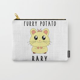 Funny Golden Hamster Pet Furry Potato Baby Gift Design Carry-All Pouch