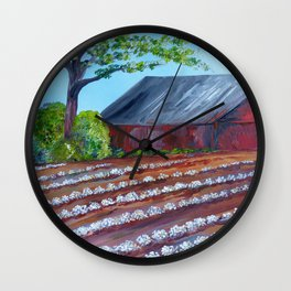 Rows of Cotton Wall Clock