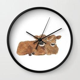 Baby Cows Wall Clock