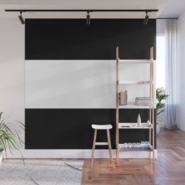 Black and white stripes Art Wall Mural