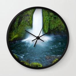 Wahclella Falls Wall Clock