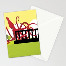 Giant Squid Attacks Edinburgh's Acropolis Stationery Cards