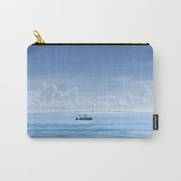 Fishing boat in front of Sunshine Skyway Carry-All Pouch