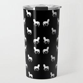 Silhouette Graphic Horses Pattern Travel Mug