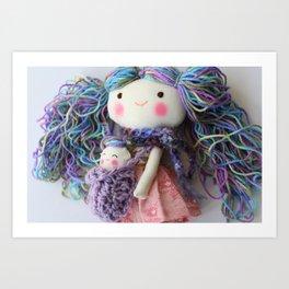 Silvana & bunny Art Print