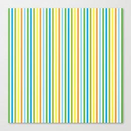 Colourful Pinstripes Canvas Print