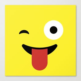 Tongue Out Emoji / Smiley Canvas Print