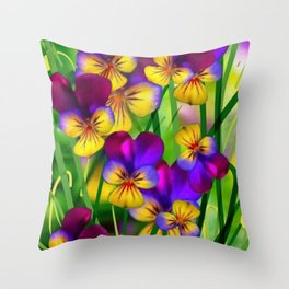 Flourish bright Throw Pillow