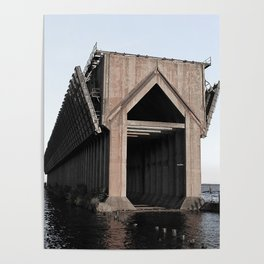Faded Ore Dock Poster