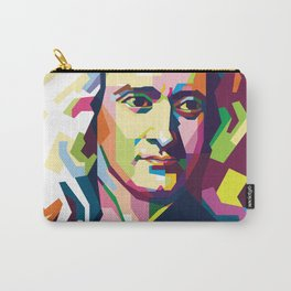 Sir Isaac Newton In Pop Art Portrait Carry-All Pouch