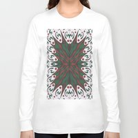 merry christmas Long Sleeve T-shirts featuring Merry Christmas by MissCrocodile63