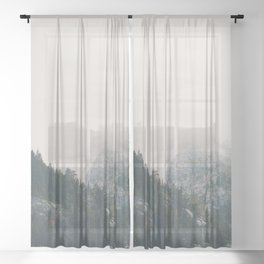The power of imagination makes us infinite. Sheer Curtain