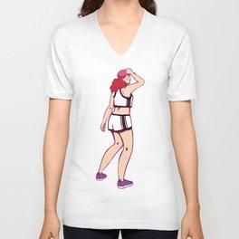 90s Redhead Cool Girl Unisex V-Neck