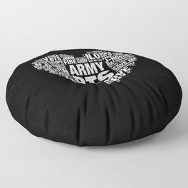 BTS ARMY Fan Art : Typography Floor Pillow