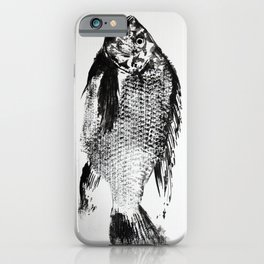 gyotaku - koi fish iPhone Case