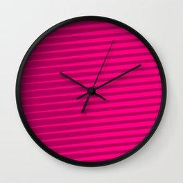 Funky Lines (Fuchsia/DarkMagenta) Wall Clock