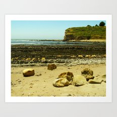 Bowling Ball Beach X Art Print