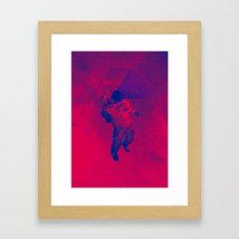 Grandient Astronaut Framed Art Print